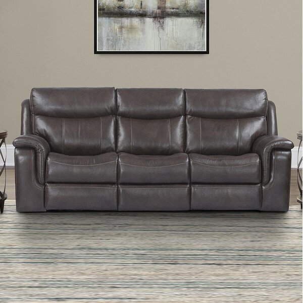 Gillsville Leather Reclining Sofa By Red Barrel Studio