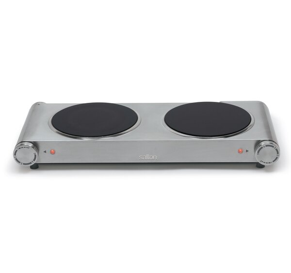 Portable 21 Electric Cooktop with 2 Burners by Sal