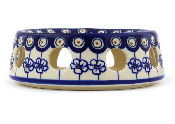 Polish Pottery Flowering Peacock Heater by Polmedia