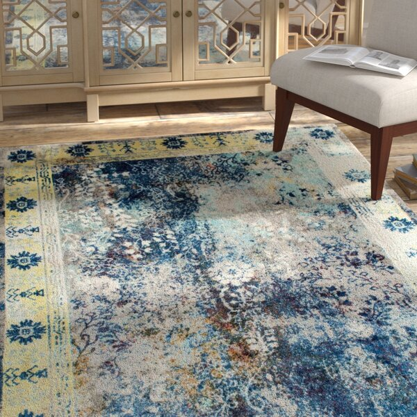 Kronos Blue Area Rug by Bungalow Rose