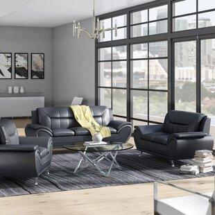 Macaire 2 Piece Faux Leather Living Room Set by Orren Ellis