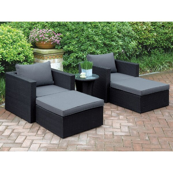 Welter 5 Piece 2 Person Seating Group With Cushions By A&J Homes Studio