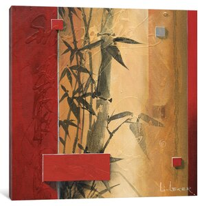 'Bamboo Garden' Painting Print on Canvas by East Urban Home