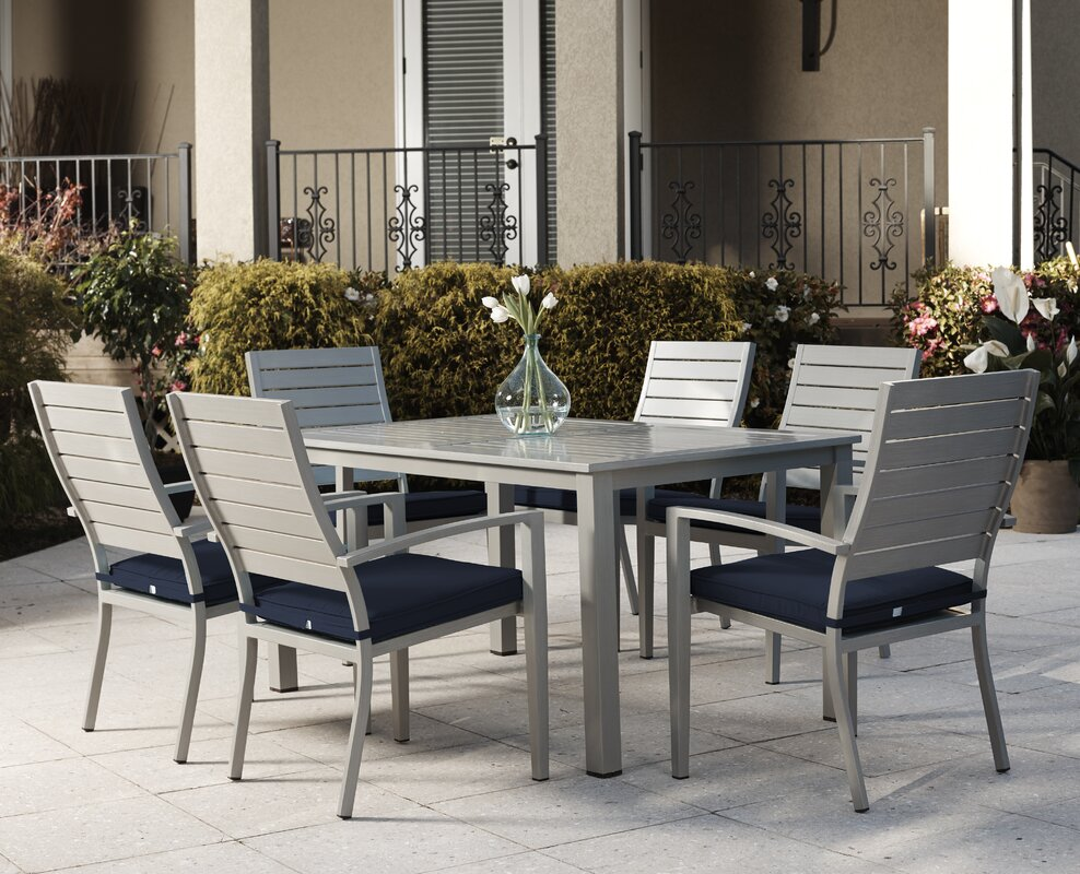 Yohan 7 Piece Dining Set With Cushion Amp Reviews Allmodern