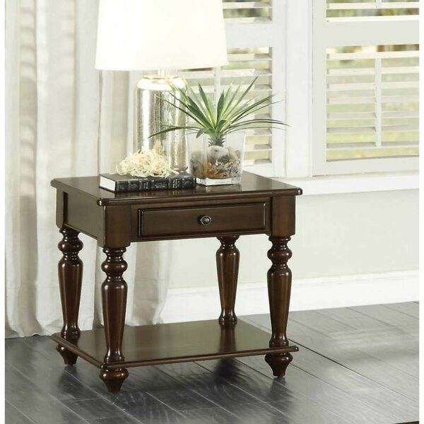 Aquinas Wooden End Table with Storage by Canora Grey