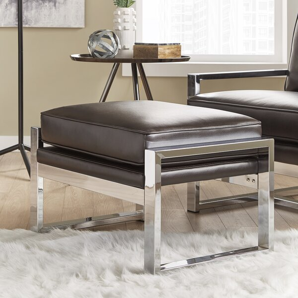Adalbert Leather Ottoman by Trent Austin Design