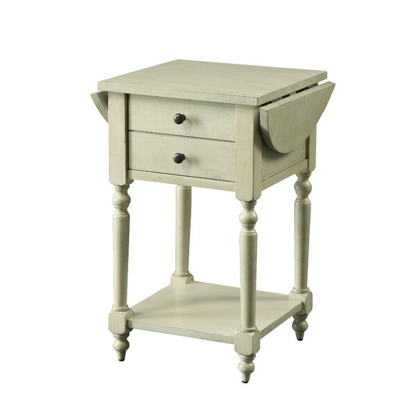 Kayli Drop-leaf End Table With Storage By August Grove