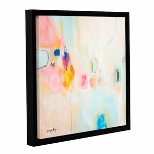 Rosa Abstract Framed Painting Print on Wrapped Canvas by Latitude Run