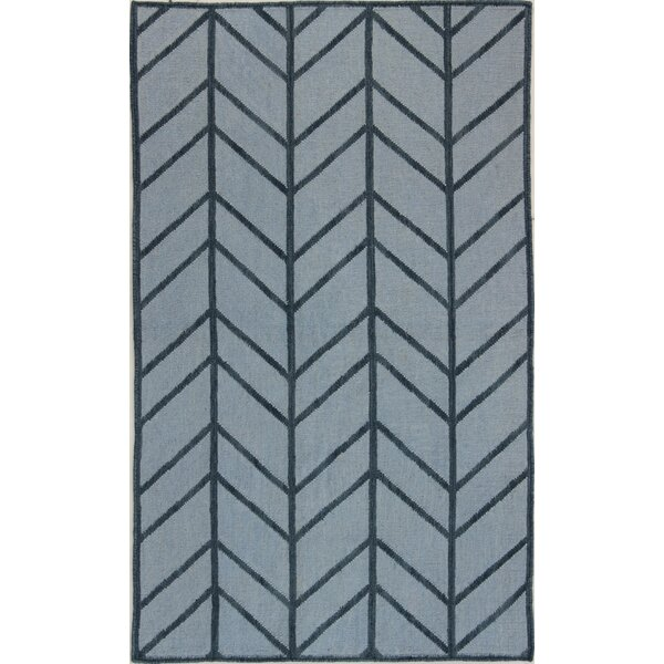 Rockport Light Blue Area Rug by Bashian Rugs