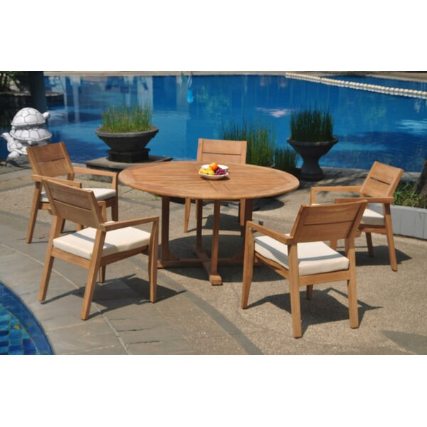 Safira 6 Piece Teak Dining Set by Rosecliff Heights