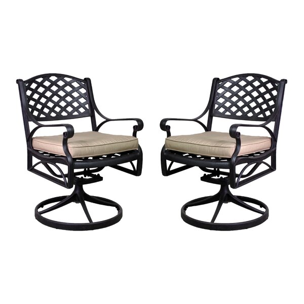 La Jolla Patio Chair with Cushion (Set of 2) by California Outdoor Designs