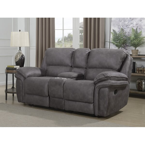 Top Brand Cannaday Reclining Loveseat by Alcott Hill by Alcott Hill