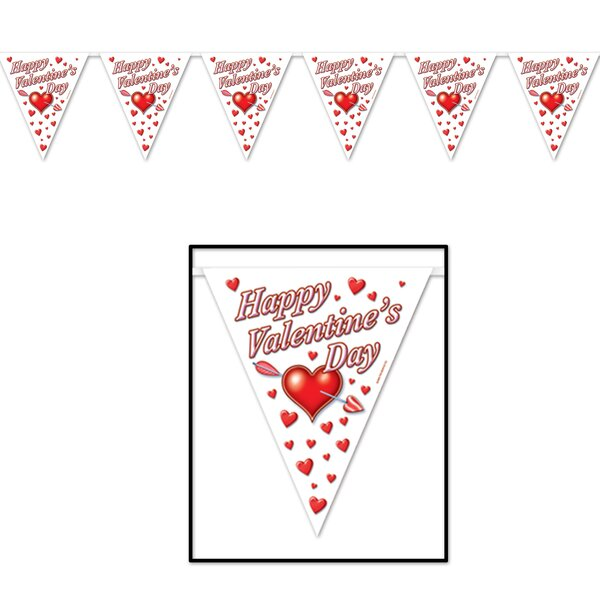 Happy Valentine's Day Pennant Banner by The Holiday Aisle