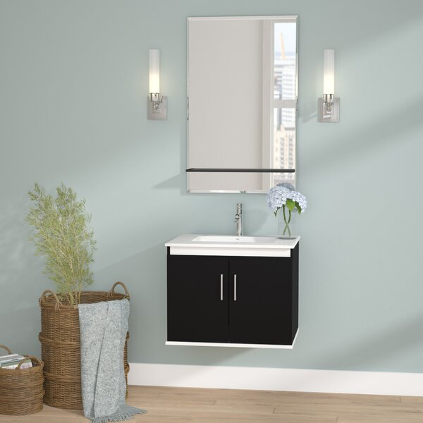 Brizendine 24 Single Vanity Set with Mirror by Wade Logan