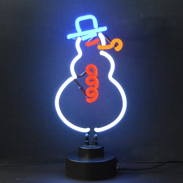 Business Signs Snowman Neon Sign by Neonetics