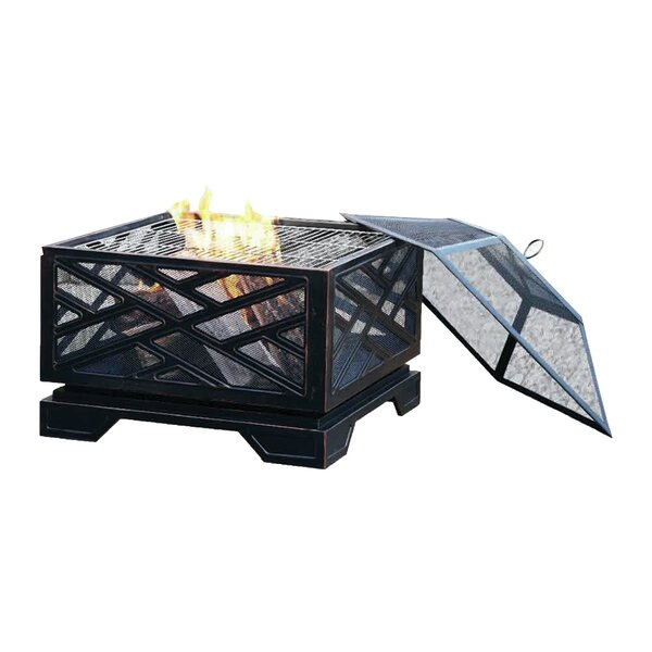 Martin Steel Wood Burning Fire Pit by Pleasant Hearth Pleasant Hearth