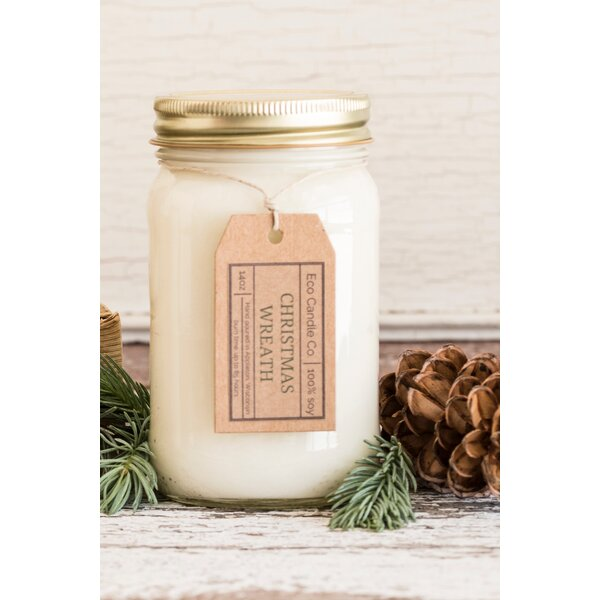 Christmas Wreath Scent Jar Candle by Eco Candle Co