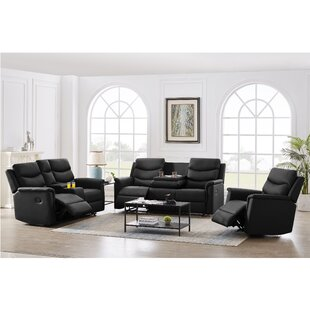 Jessica-Taylor 3 Piece Faux Leather Reclining Living Room Set by Latitude Run®