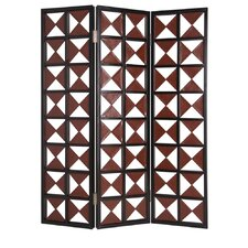 84 x 59 Navarro 3 Panel Room Divider by Screen Gems