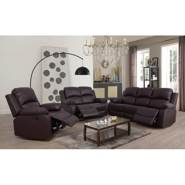 Faucher Reclining 3 Piece Living Room Set by Winston Porter