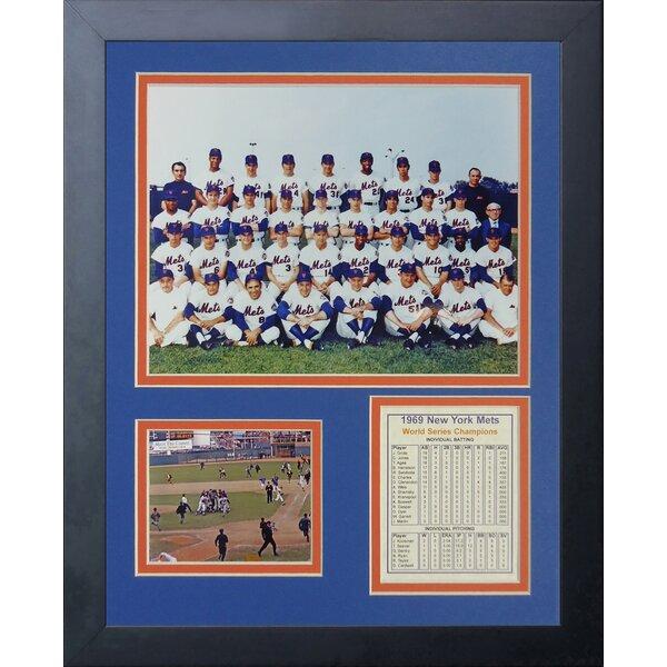 1969 New York Mets - Posed Framed Memorabilia by Legends Never Die