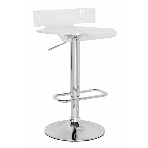 Kelsie Adjustable Height Swivel Bar Stool by Orren Ellis