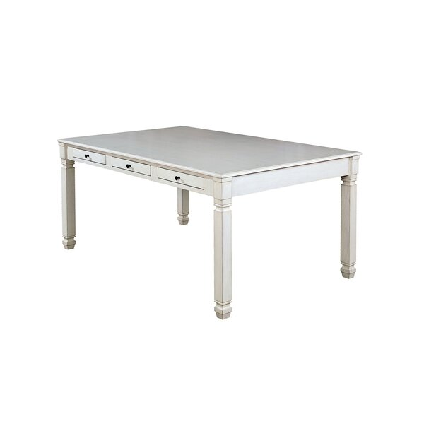 Saira Solid Wood Dining Table by Highland Dunes