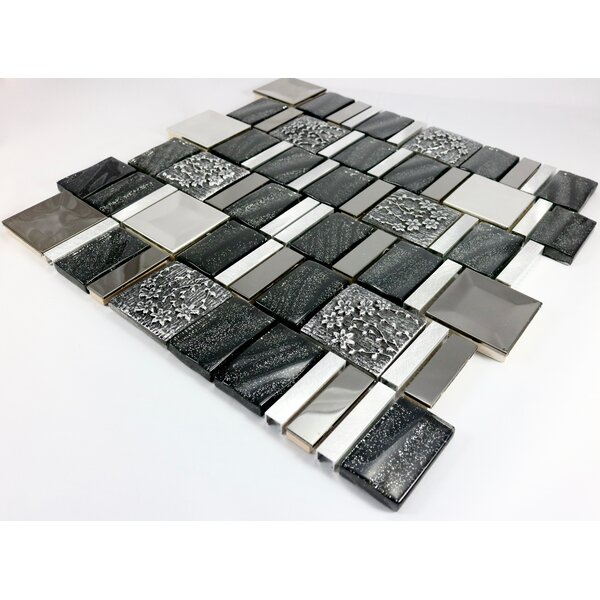 Vitray 12 x 12 Mixed Material Mosaic Tile in Black by Mirrella