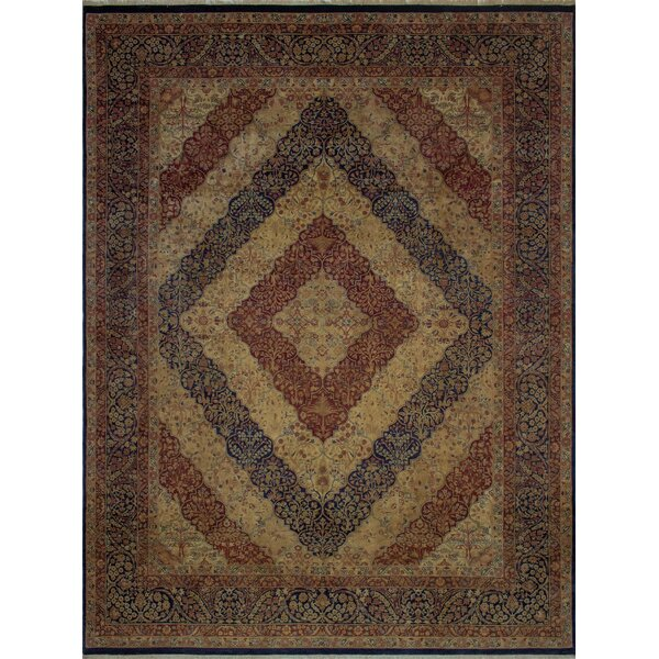 Canning Persian Hand-Knotted Wool Navy/Red Area Rug by Fleur De Lis Living