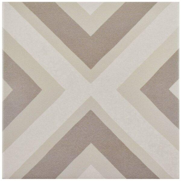 Grotta 7.88 x 7.88 Porcelain Field Tile in Taupe/Beige by EliteTile