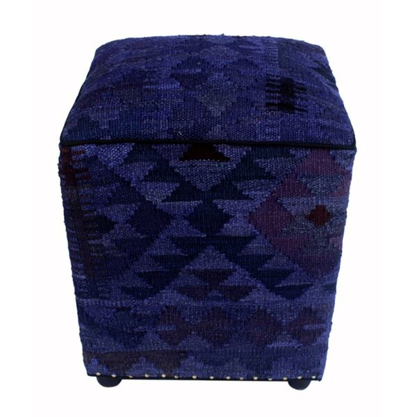 Brasher Kilim Cube Ottoman by Union Rustic