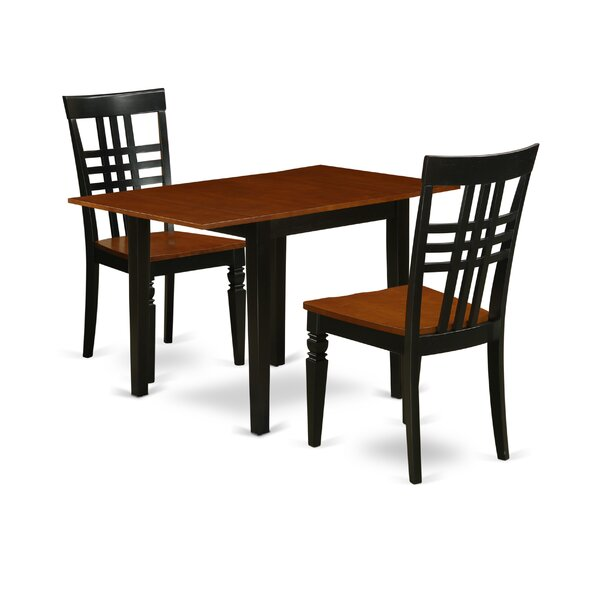 Zena Drop Leaf Solid Wood Dining Set by Ophelia & Co. Ophelia & Co.