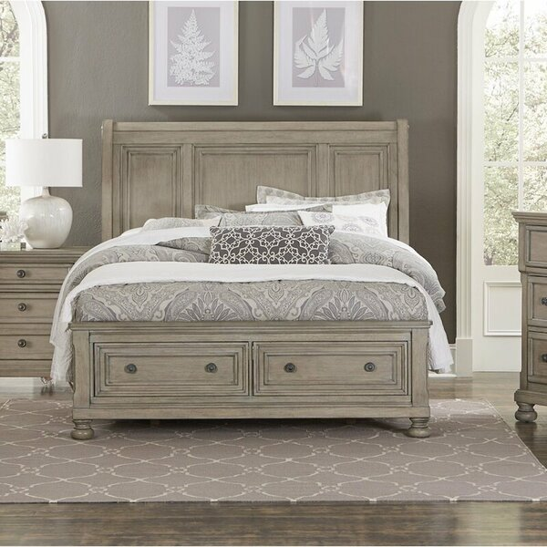 Leiston Storage Sleigh Bed by Canora Grey