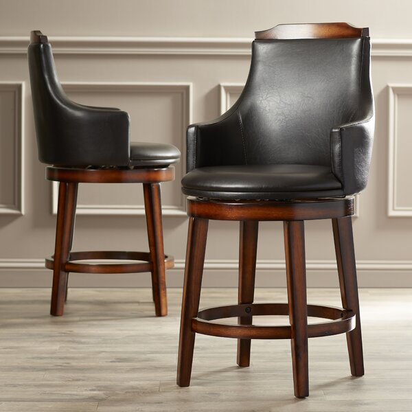 Allenville 24 Swivel Bar Stool (Set of 2) by Three Posts