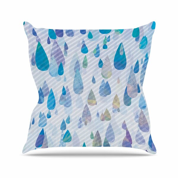 Noonday Design Rain Storm Digital Outdoor Throw Pillow by East Urban Home
