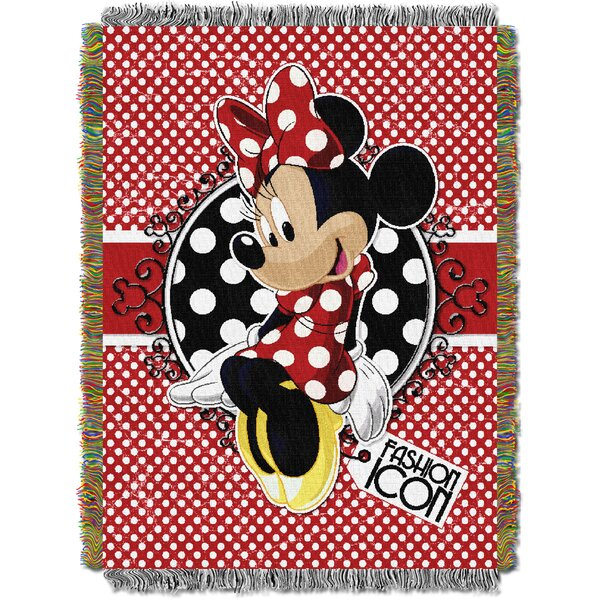 Minnie Bowtique - Forever Minnie Tapestry Throw by Northwest Co.
