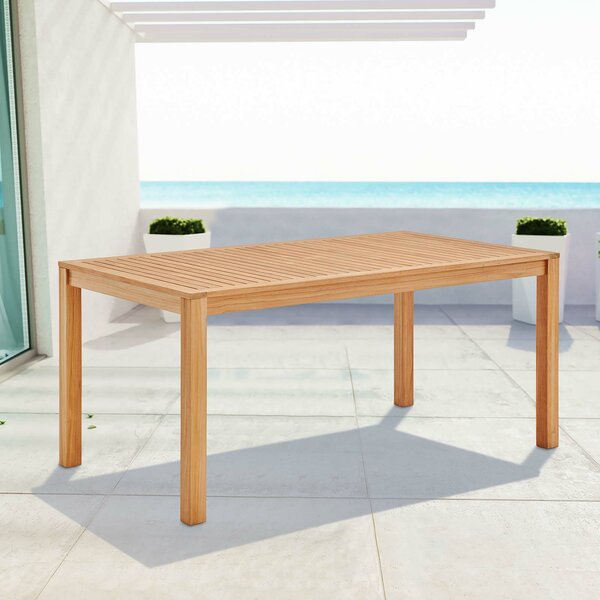 Koa Teak Dining Table by Rosecliff Heights