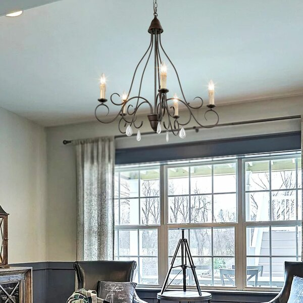 Nasir 5 - Light Candle Style Empire Chandelier by One Allium Way One Allium Way