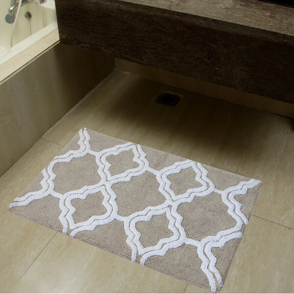 Salma Double Quatrefoil Bath Rug Set by Rosdorf Park