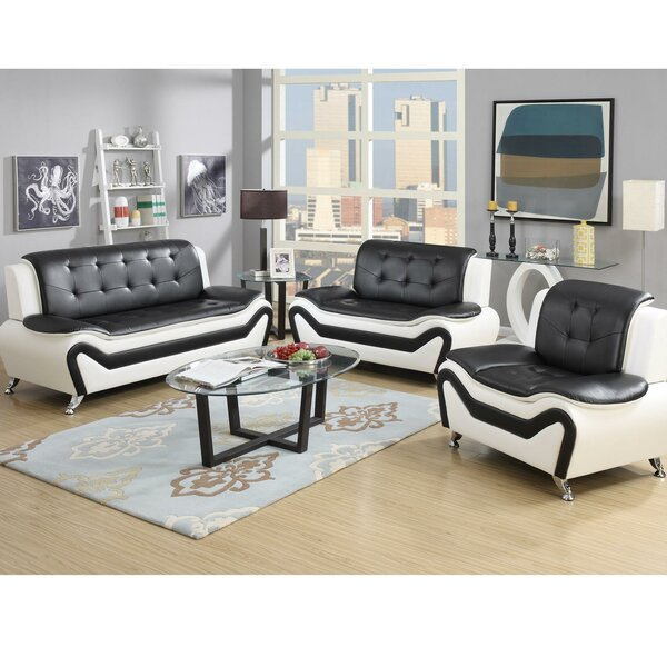 Wishart Contemporary 3 Piece Living Room Set by Orren Ellis