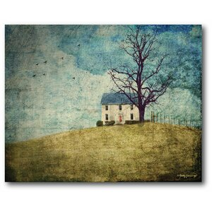 Farmhouse Canvas House On the Hill Painting Print on Wrapped Canvas by Courtside Market
