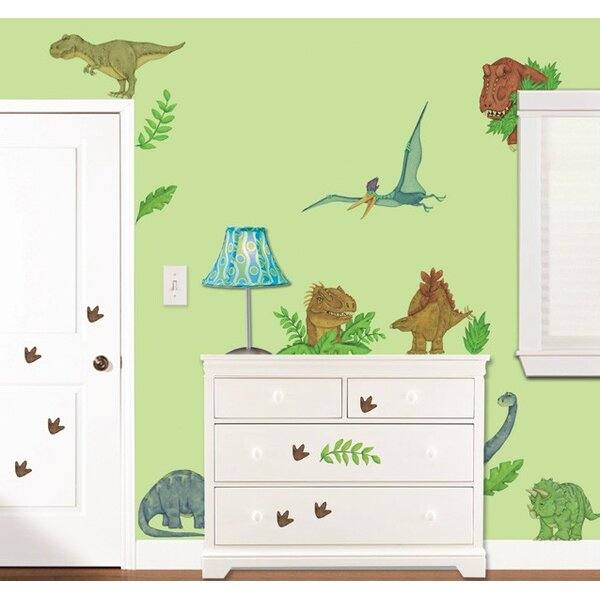 In Dinosaur Land Super Jumbo Appliqué Wall Decal by Borders Unlimited