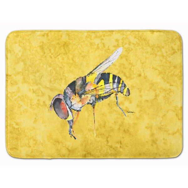 Bee Memory Foam Bath Rug by East Urban Home