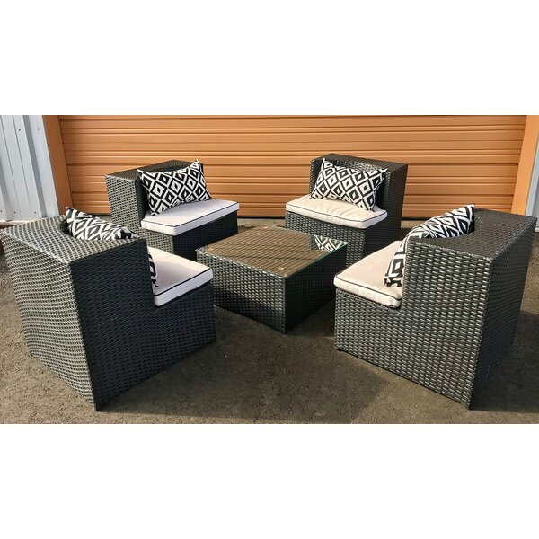 Nadel 6 Piece Multiple Chairs Seating Group with Cushions by Latitude Run