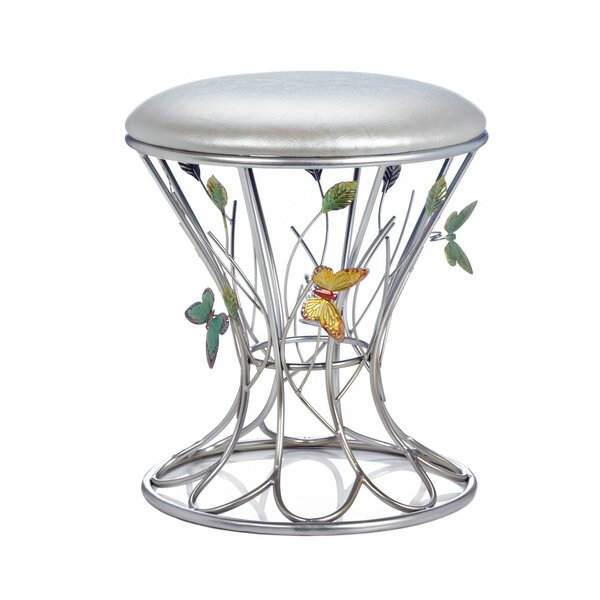 Patro Butterfly Wonder Accent Stool by August Grove