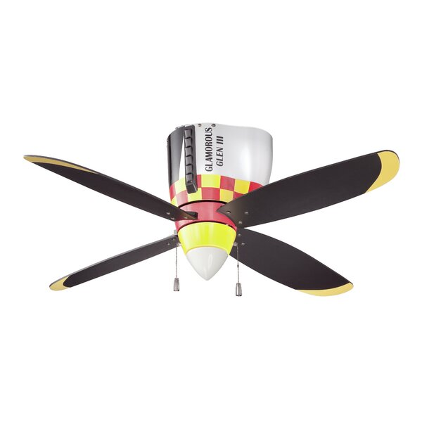 48 Forestport 4-Blade Ceiling Fan by Zoomie Kids