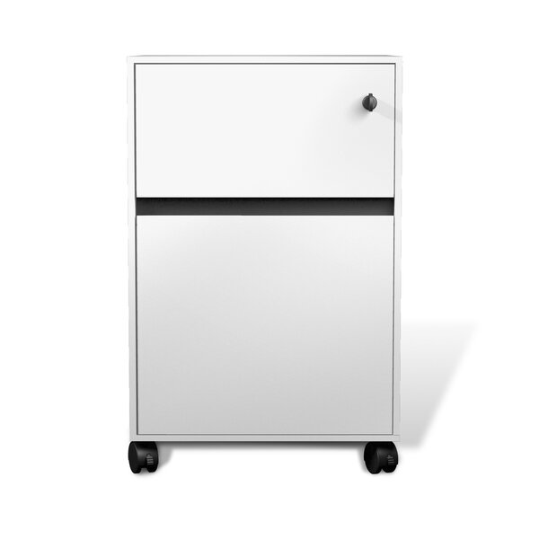 Berna Collection 2-Drawer Mobile Vertical Filing Cabinet by Symple Stuff