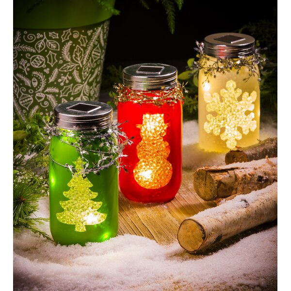 Solar Holiday Glass Lantern Lamp Set (Set of 3) by The Holiday Aisle