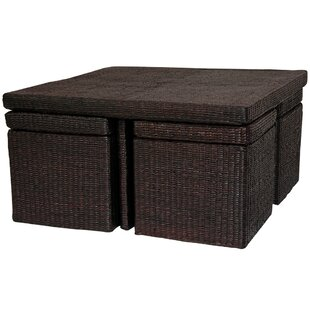 Coffee Table with Four Stools by Oriental Furniture
