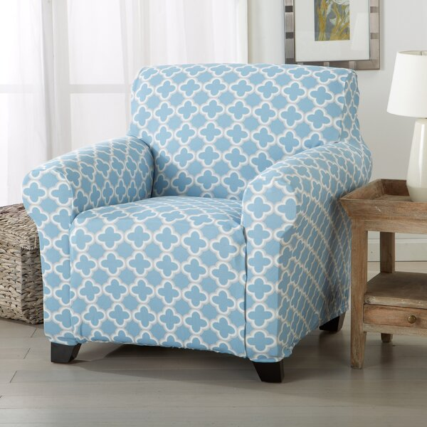 Brenna Box Cushion Armchair Slipcover by Home Fashion Designs